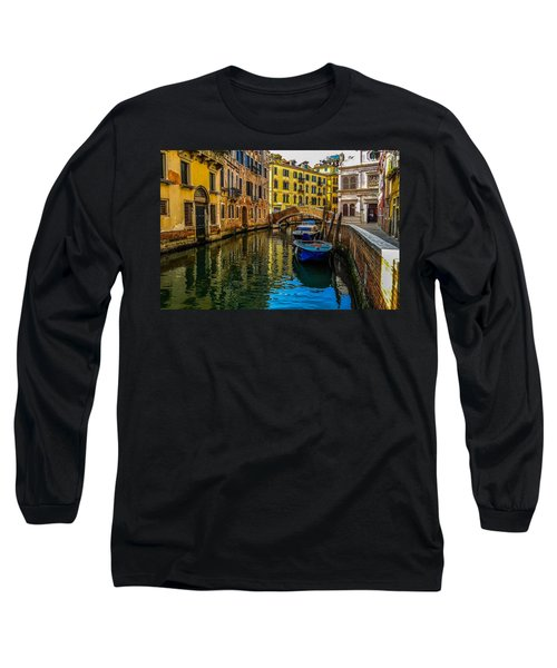 Venice Canal In Italy Long Sleeve T-Shirt