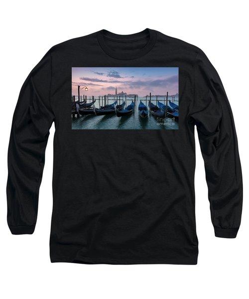 Long Sleeve T-Shirt featuring the photograph Venice Dawn Iv by Brian Jannsen