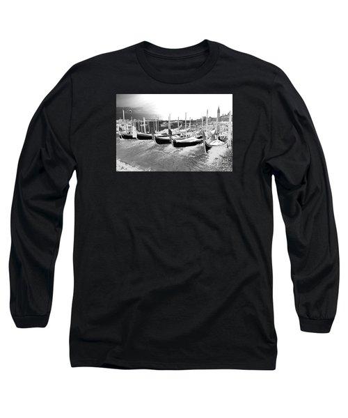 Venice Gondolas Silver Long Sleeve T-Shirt