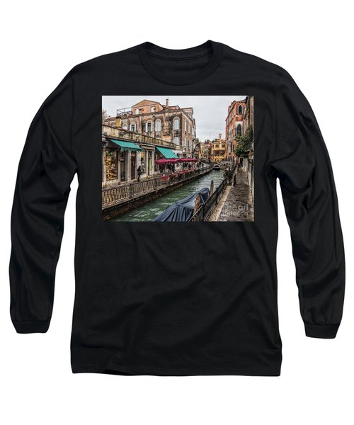 Long Sleeve T-Shirt featuring the photograph Venice 'streets' by Shirley Mangini