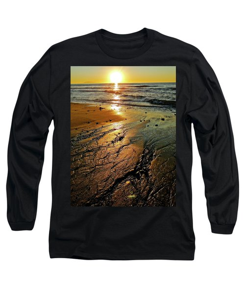 Ventura Beach Winter Sunset Long Sleeve T-Shirt