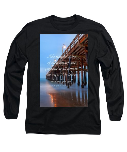Ventura Ca Pier With Bible Verse Long Sleeve T-Shirt