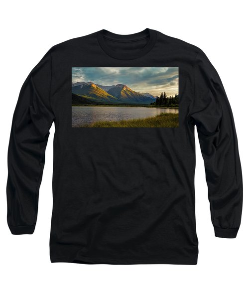 Vermillion Lakes Sunset Long Sleeve T-Shirt