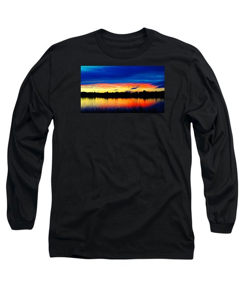 Vermillion Sunset Long Sleeve T-Shirt by Eric Dee