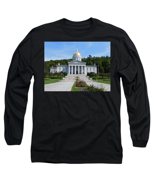 Vermont State House Long Sleeve T-Shirt by Catherine Gagne