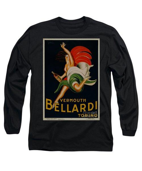 Vermouth Bellardi Torino Vintage Poster Long Sleeve T-Shirt