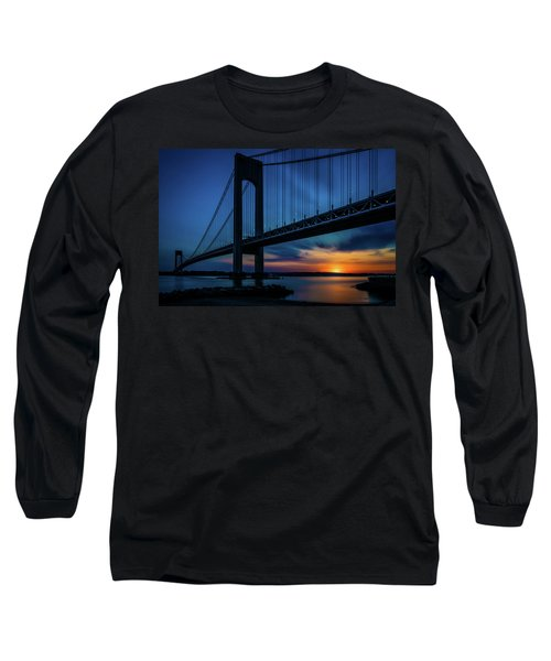Long Sleeve T-Shirt featuring the photograph Verrazano Sunset by Chris Lord