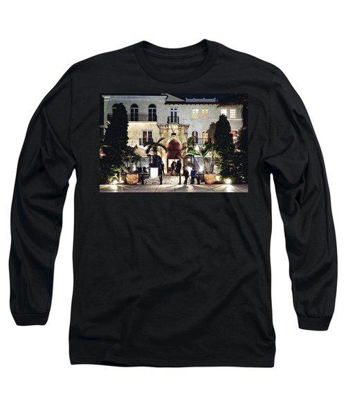 Versace Mansion South Beach Long Sleeve T-Shirt