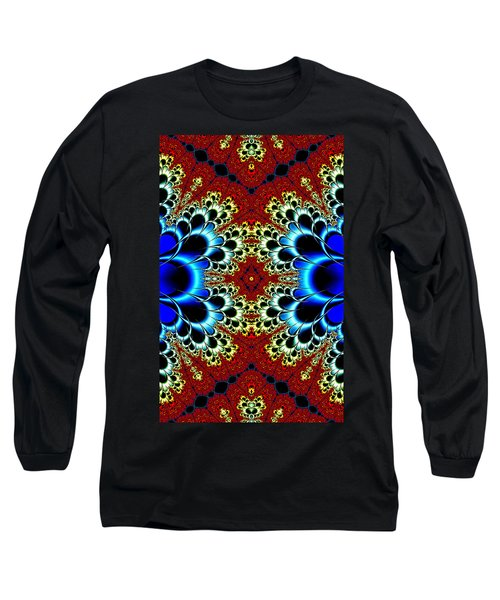Vibrancy Fractal Cell Phone Case Long Sleeve T-Shirt by Lea Wiggins
