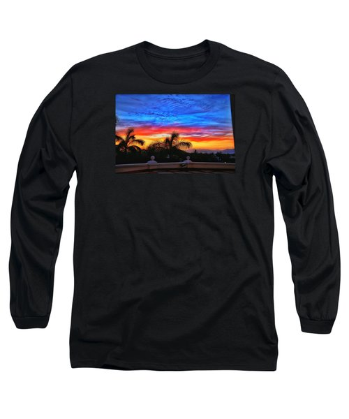 Long Sleeve T-Shirt featuring the photograph Vibrant Sunset In Mexico by Nikki McInnes