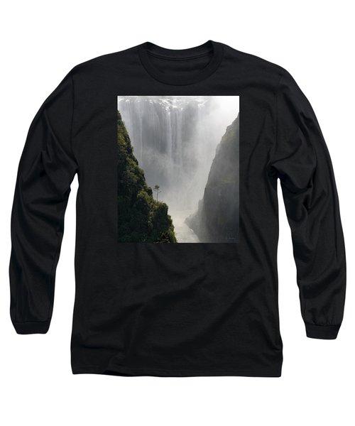 Victoria Falls No. 2 Long Sleeve T-Shirt by Joe Bonita