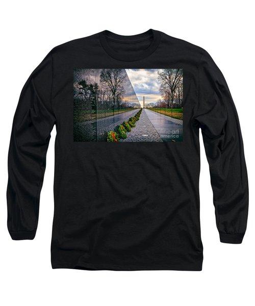 Vietnam War Memorial, Washington, Dc, Usa Long Sleeve T-Shirt