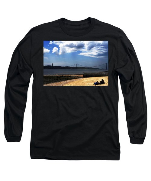 Long Sleeve T-Shirt featuring the photograph View From Across The Tagus by Lorraine Devon Wilke