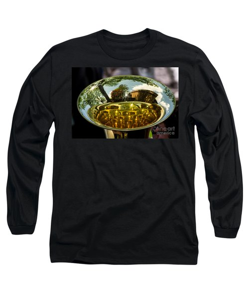 View Through A Sousaphone Long Sleeve T-Shirt by Kevin Fortier