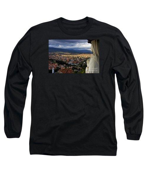 Vigil Over Cuenca From Turi Ecuador Long Sleeve T-Shirt by Al Bourassa