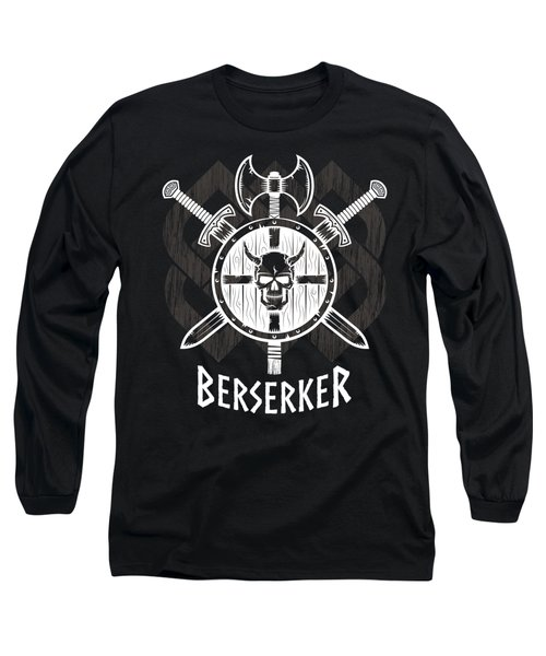 Viking Berserker Old Norse Wild Warrior Long Sleeve T-Shirt