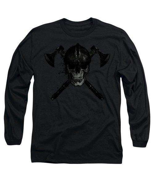 Viking Skull Long Sleeve T-Shirt