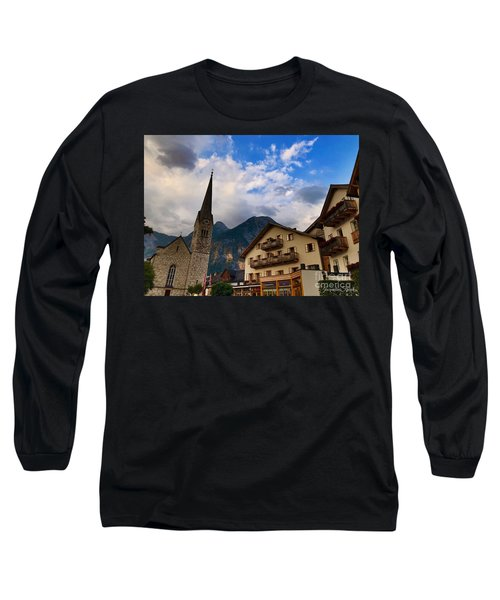 Long Sleeve T-Shirt featuring the photograph Village Hallstatt by Jacqueline Faust
