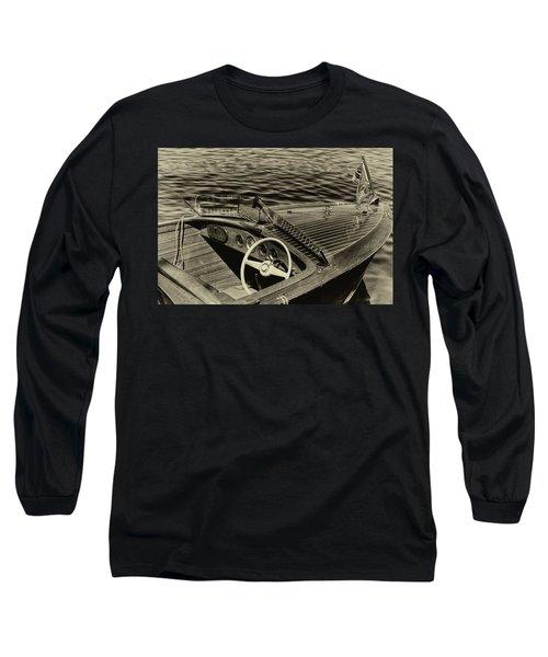 Vintage 1958 Chris Craft Utility Boat Long Sleeve T-Shirt