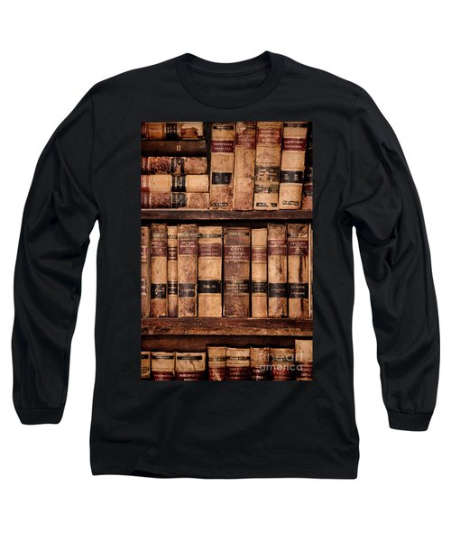 Long Sleeve T-Shirt featuring the photograph Vintage American Law Books by Jill Battaglia
