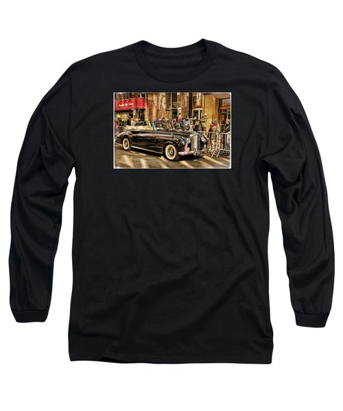 Vintage Bentley Convertible Long Sleeve T-Shirt by Mike Martin