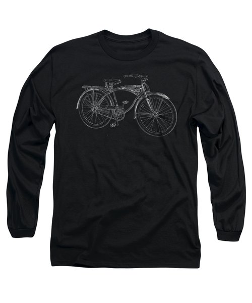 Vintage Bicycle Tee Long Sleeve T-Shirt by Edward Fielding