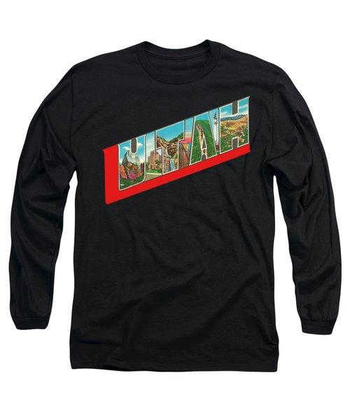 Vintage Big Letters Utah State Souvenir Long Sleeve T-Shirt