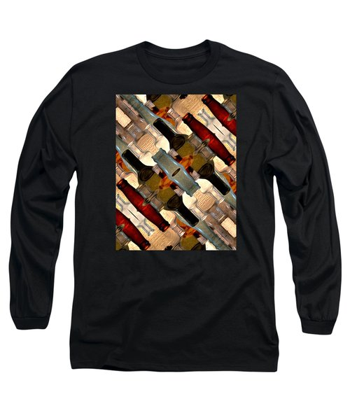Vintage Bottles Abstract Long Sleeve T-Shirt
