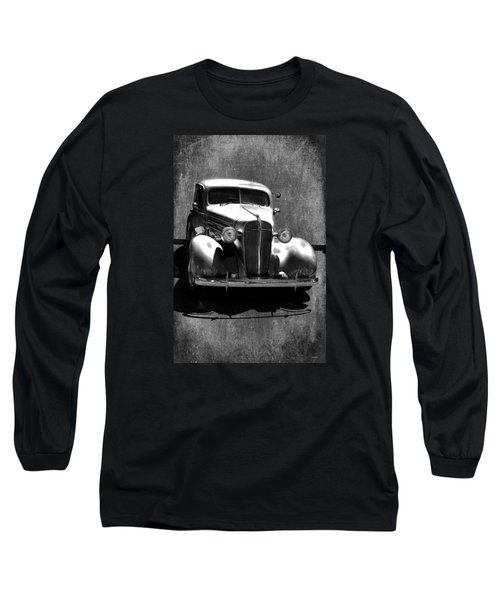 Vintage Car Art 0443 Bw Long Sleeve T-Shirt by Lesa Fine