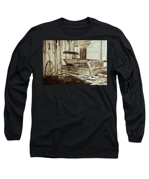 Vintage Carriage Long Sleeve T-Shirt by Ray Shrewsberry