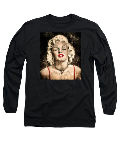 Vintage Grunge Goddess Marilyn Monroe  Long Sleeve T-Shirt