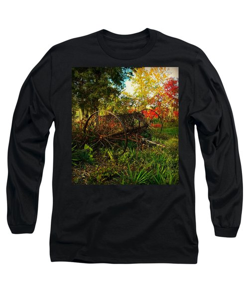 Vintage Hay Rake Long Sleeve T-Shirt by Chris Berry