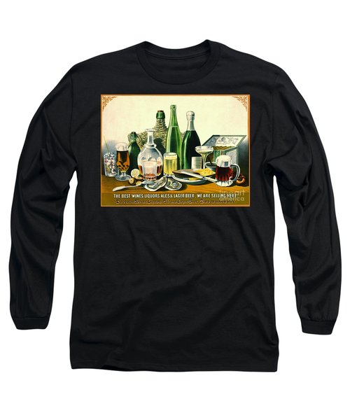 Vintage Liquor Ad 1871 Long Sleeve T-Shirt by Padre Art