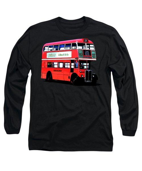 Vintage London Bus Tee Long Sleeve T-Shirt by Edward Fielding