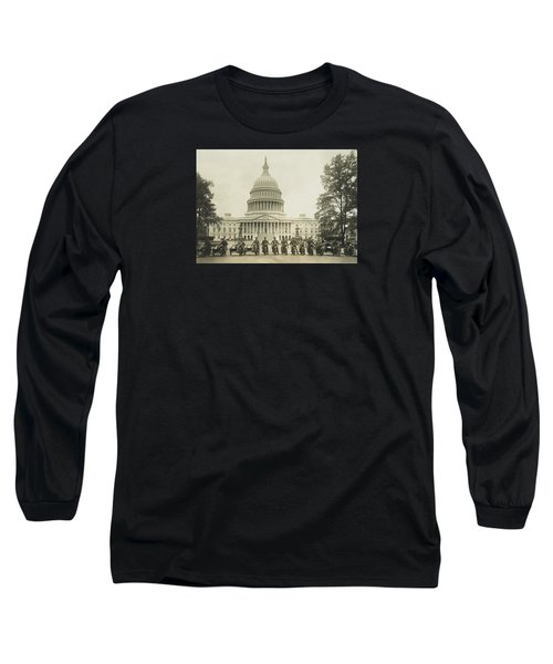 Vintage Motorcycle Police - Washington Dc  Long Sleeve T-Shirt by War Is Hell Store
