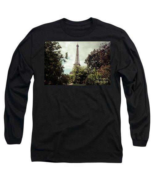 Vintage Paris Landscape Long Sleeve T-Shirt