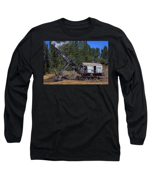 Vintage Steam Shovel Long Sleeve T-Shirt