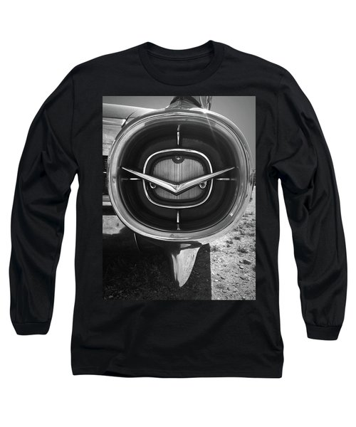 Vintage Tail Fin In Black And White Long Sleeve T-Shirt
