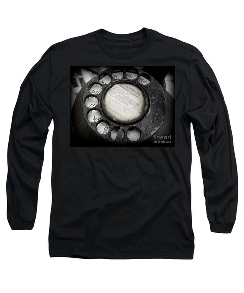 Long Sleeve T-Shirt featuring the photograph Vintage Telephone by Lainie Wrightson