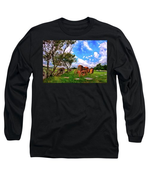 Vintage Tractor In The Blue Ridge Ap Long Sleeve T-Shirt