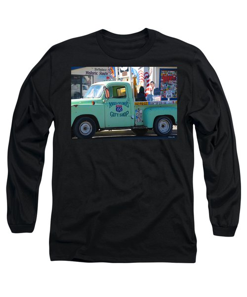 Vintage Truck With Elvis On Historic Route 66 Long Sleeve T-Shirt