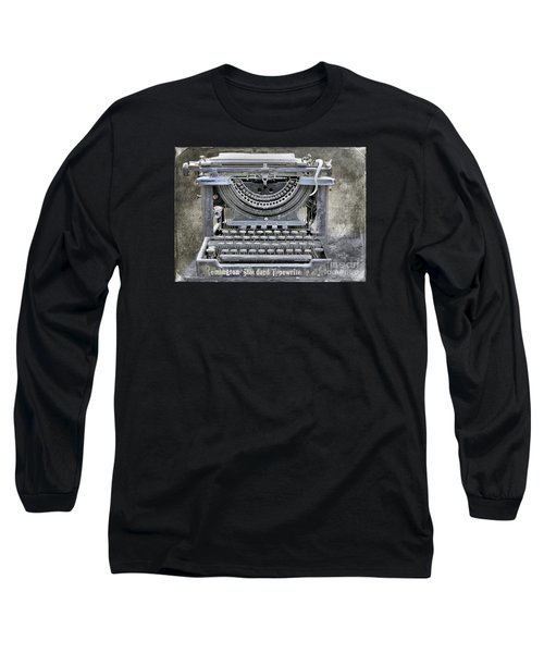 Vintage Typewriter Photo Paint Long Sleeve T-Shirt by Nina Silver