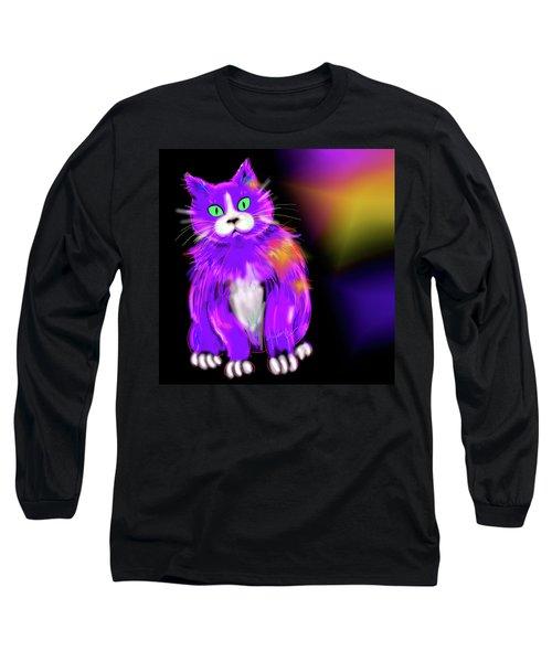 Violet Dizzycat Long Sleeve T-Shirt