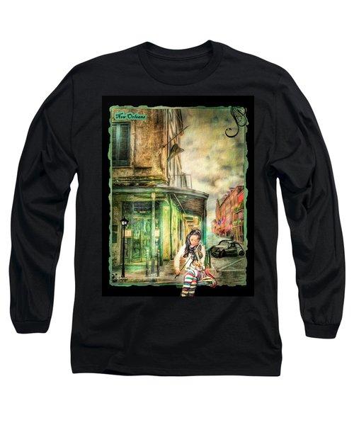 Violinist Evening Long Sleeve T-Shirt