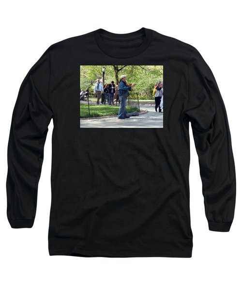 Violinist Long Sleeve T-Shirt by Helen Haw