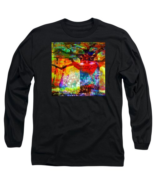 Long Sleeve T-Shirt featuring the mixed media Vision The Tree Of Life by Fania Simon