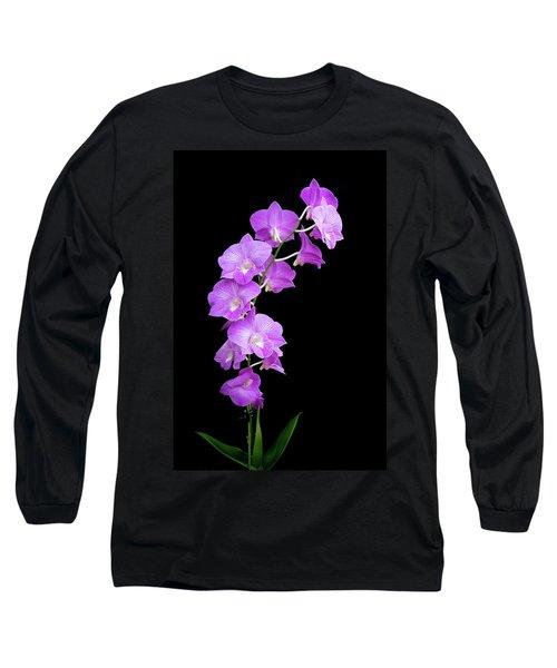 Vivid Purple Orchids Long Sleeve T-Shirt