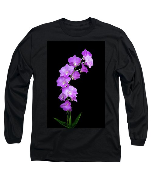 Vivid Purple Orchids Long Sleeve T-Shirt