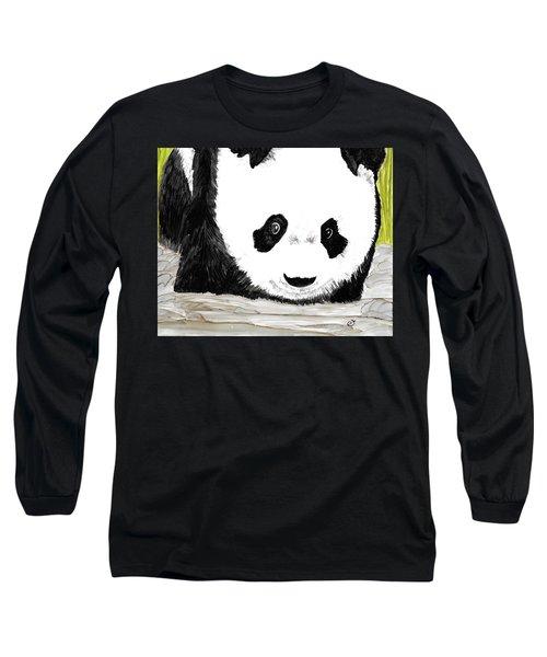 Vivi's Pet Panda Long Sleeve T-Shirt