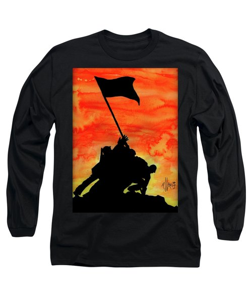 Vj Day Long Sleeve T-Shirt by P J Lewis